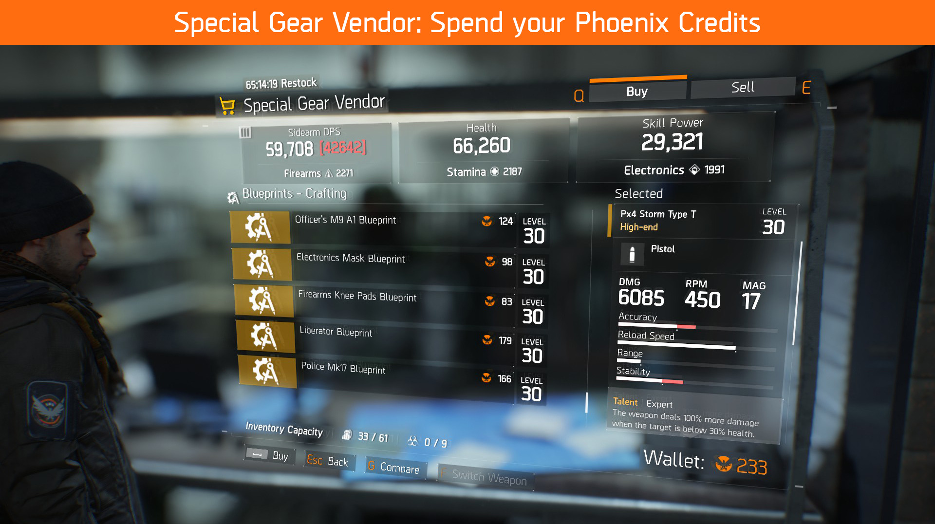 The division base of operations guide team brg special weapons vendor is especially important because of all the high end blueprints he sells high end or yellow gear is the best quality of weapons and malvernweather Choice Image