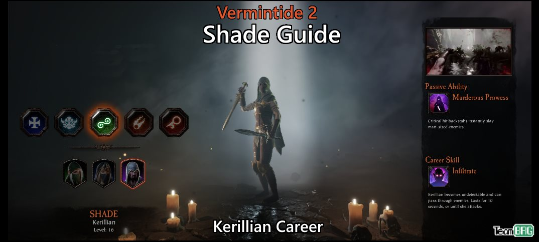 Vermintide 2: Shade Career – Talents, Builds Guide | Team BRG